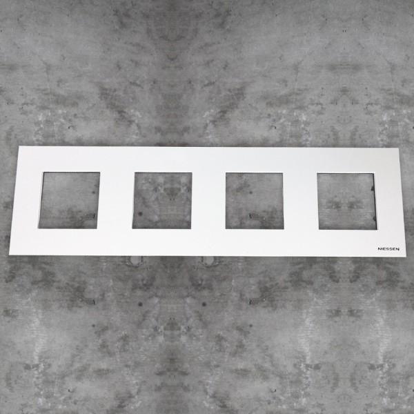Marco básico 4 ventanas 2 módulos blanco Zenit Niessen