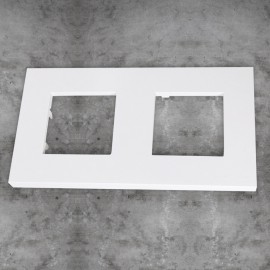 Marco básico 2 ventanas 2 módulos blanco Zenit Niessen