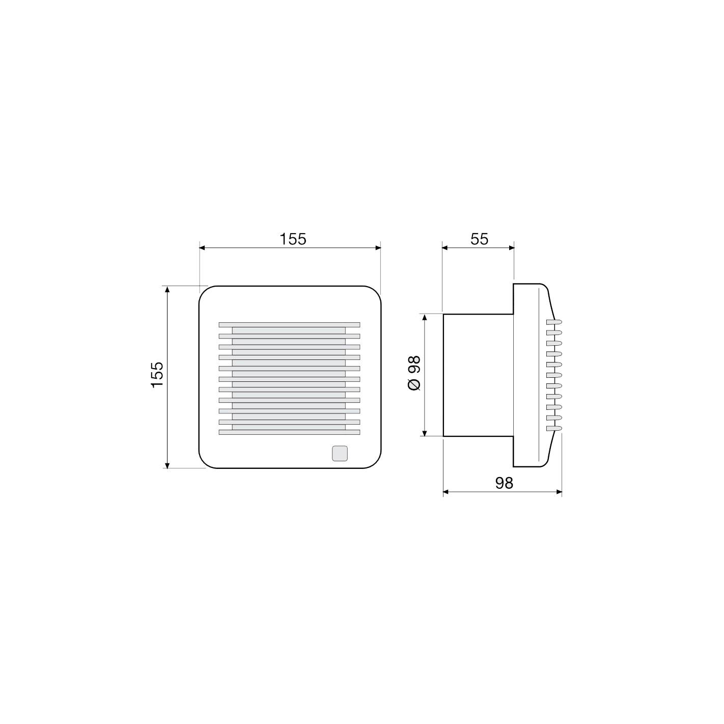 Extractor De Baño A Pilas:CLIMATIZACIÓN > Extractores de baño > Extractor de baño S&P Edm