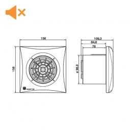 Extractor de baño S&P Silent-100 Silver