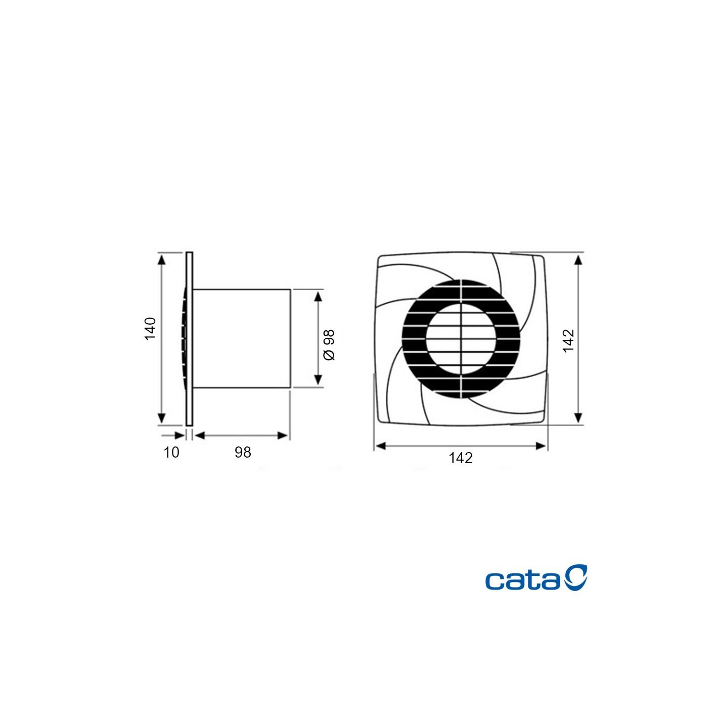 Extractor De Baño A Pilas:CLIMATIZACIÓN > Extractores de baño > Extractor de baño Cata B10