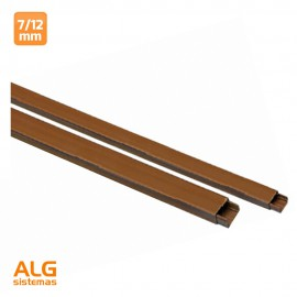 Minicanal de madera 7x12mm 2mts  (precio por barra)