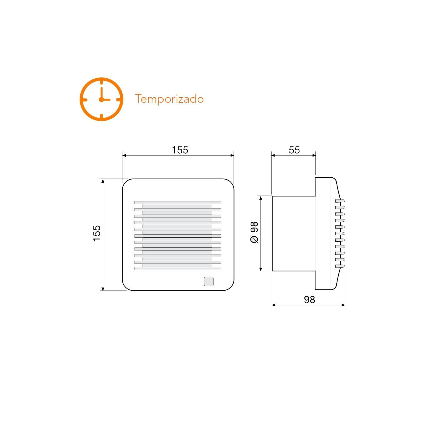 Extractor De Baño Para Techo:CLIMATIZACIÓN > Extractores de baño > Extractor de baño