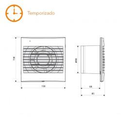 Extractor de baño temporizado S&P Decor-100 CR