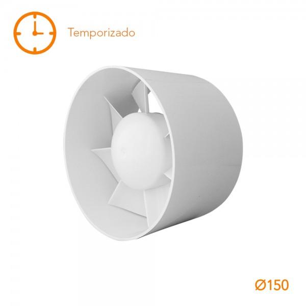 Extractor tubular intercalar en conducto MU TU 6T circular Temporizado