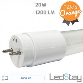 Tubo Led De Cristal T8 1200mm 20W Conex.1 extremo