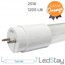 Tubo Led De Cristal T8 1200mm 20W Conex.2 extremos