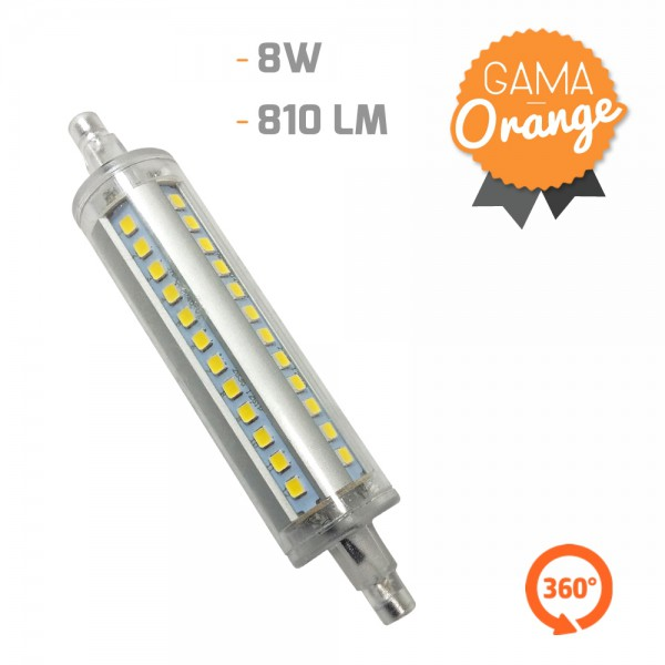 Lámpara Led R7S 360º 8W