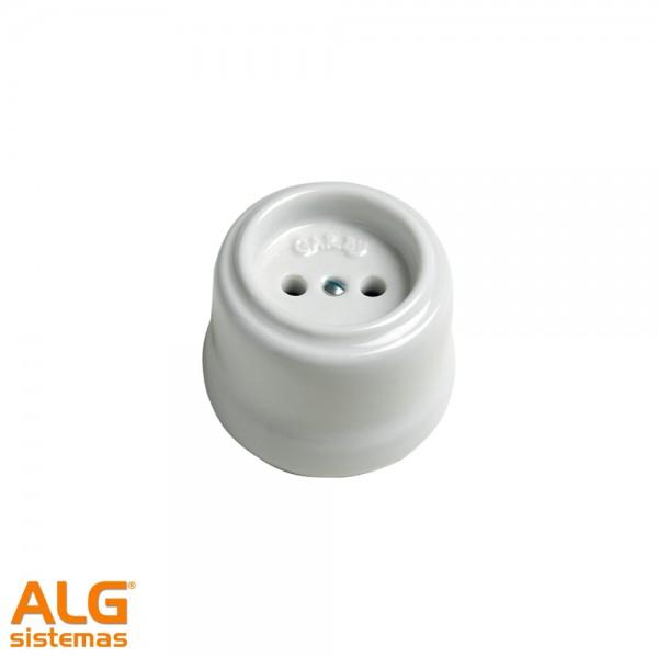 Base enchufe 10/16 A serie Garby porcelana