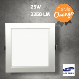 Downlight Cuadrado 25W LED Samsung SMD5630 Blanco