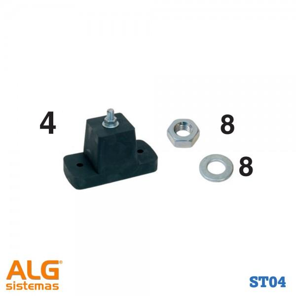 Bolsa de montaje split para suelo con separación ST04