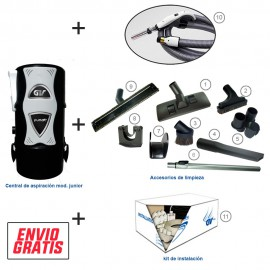 Kit completo junior con kit  on/of + kit instalacion 3 tomas