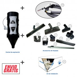 Kit completo mod. senior aut con kit on/off + kit instalacion 5 tomas