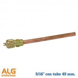 """Válvula de obús de soldar 5/16"""" con tubo 45 mm"""