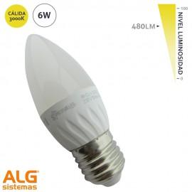 Lámpara Led 6W Vela E27
