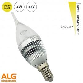 Lámpara Led 4W Vela Bohemia 12Vdc