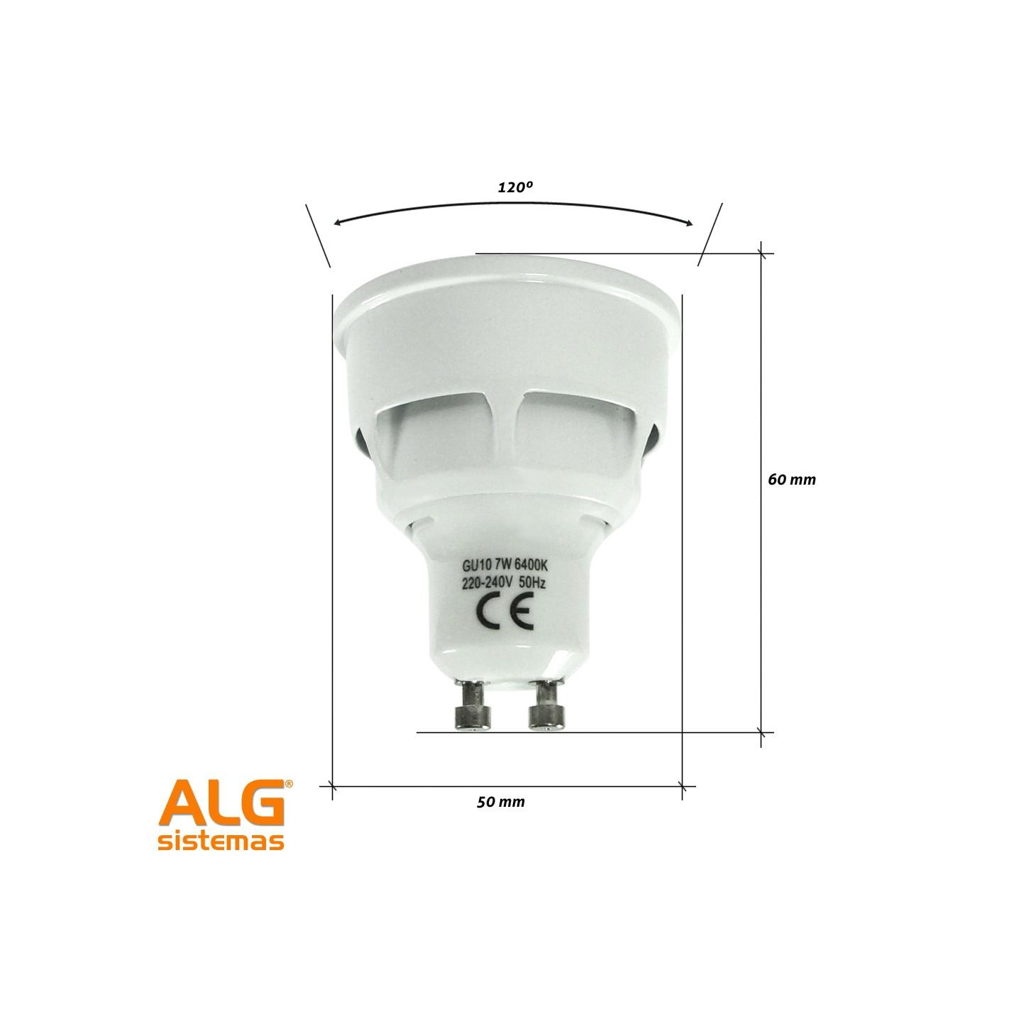 Bombilla led gu10 7w edm alg sistemas - Bombilla de led ...