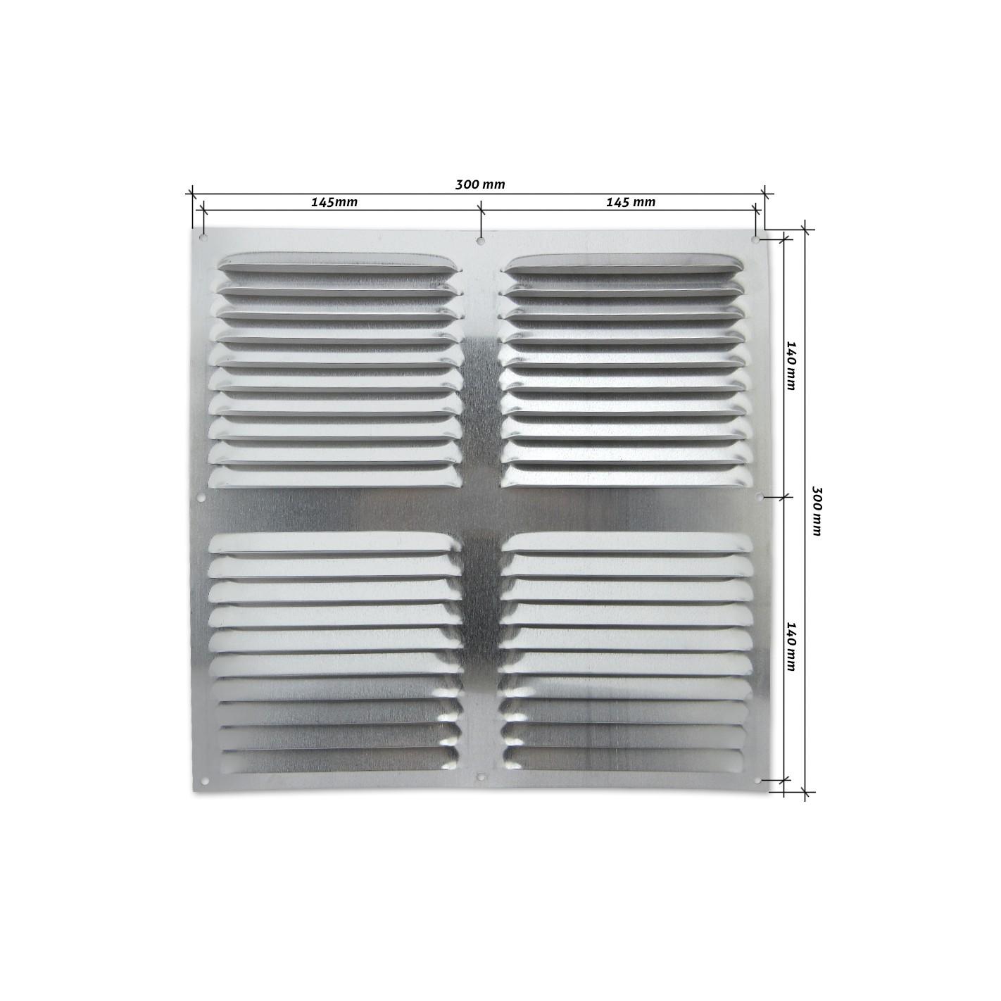 Rejilla de ventilaci n plana 300x300 mm aluminio alg - Rejilla ventilacion aluminio ...