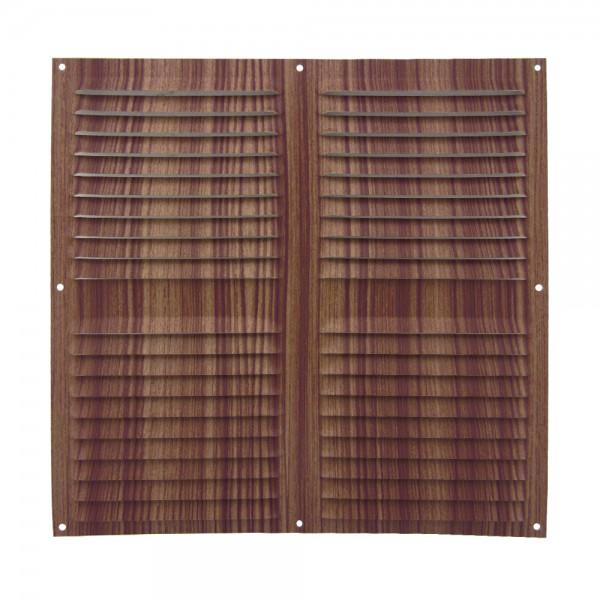 Rejilla de ventilación plana 300x300 mm Madera Oscura