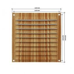 Rejilla de ventilación plana 150x150 mm Madera Clara
