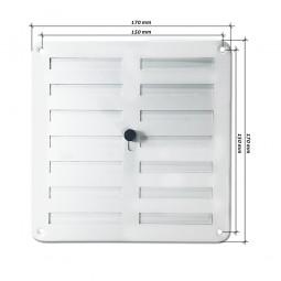 Rejilla de ventilación regulable 170x170 mm Blanca