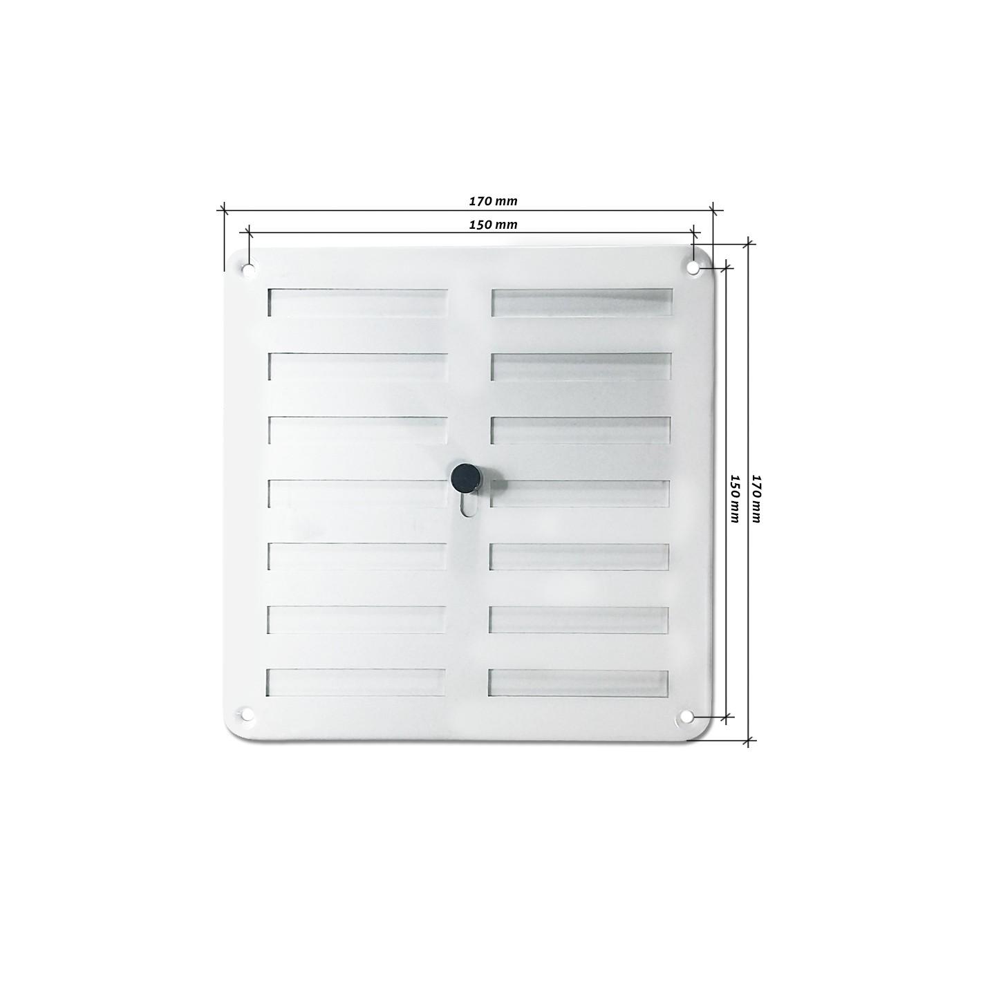 Rejilla de ventilaci n regulable 170x170 mm blanca alg - Rejilla de ventilacion regulable ...