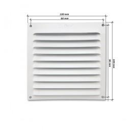 Rejilla de ventilación plana 100x100 Blanca