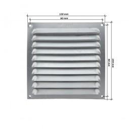 Rejilla de ventilación plana 100x100 Aluminio