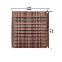 Rejilla de ventilación plana 100x100 mm Madera Oscura