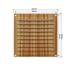 Rejilla de ventilación plana 100x100 mm Madera Clara