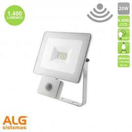 Proyector Multiled con sensor 20W IP65 Blanco EDM