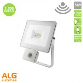 Proyector Multiled con sensor 50W IP65 Blanco EDM