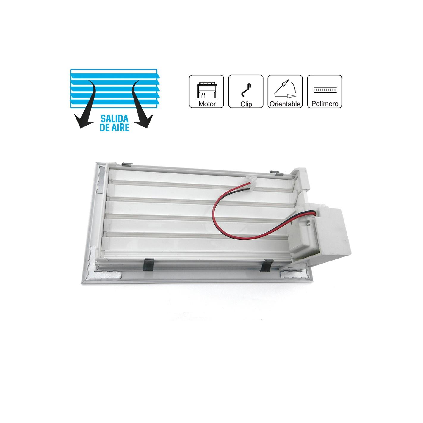 Control rejillas motorizadas aire acondicionado for Salida aire acondicionado