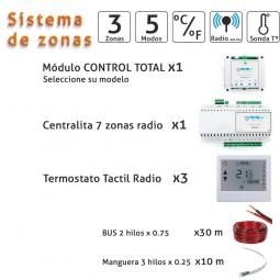Kit 3 zonas radio frecuencia
