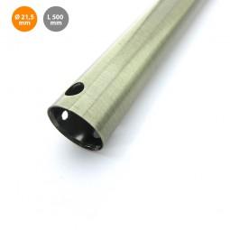 Barra metal 50cm color cuero para extensión de ventilador de techo