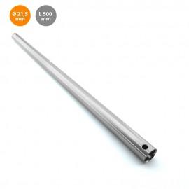 Barra metal 50cm niquel para extensión de ventilador de techo