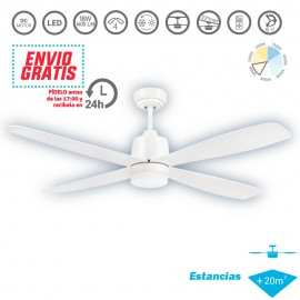 Ventilador de techo Led 18W Corvete Blanco/Blanco