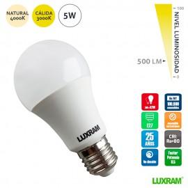 Bombilla led estándar 5W E27 serie value