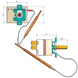 Kit termostatos regulación 0-200ºC freidora
