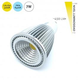 Lampara de LED COB GU10 7W