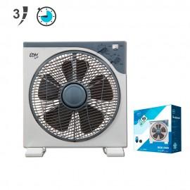 Ventilador box fan  Ø30cm gris 45W rotativo temporizado