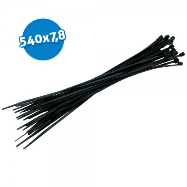 Bridas de poliamida negras 540x7,8 100 uds