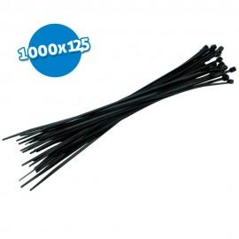 Bridas de poliamida negras 1000x12.5 50 uds