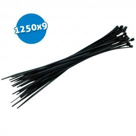 Bridas de poliamida negras 1220x9 50 uds