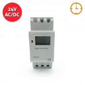 Programador horario digital 24V AC/DC