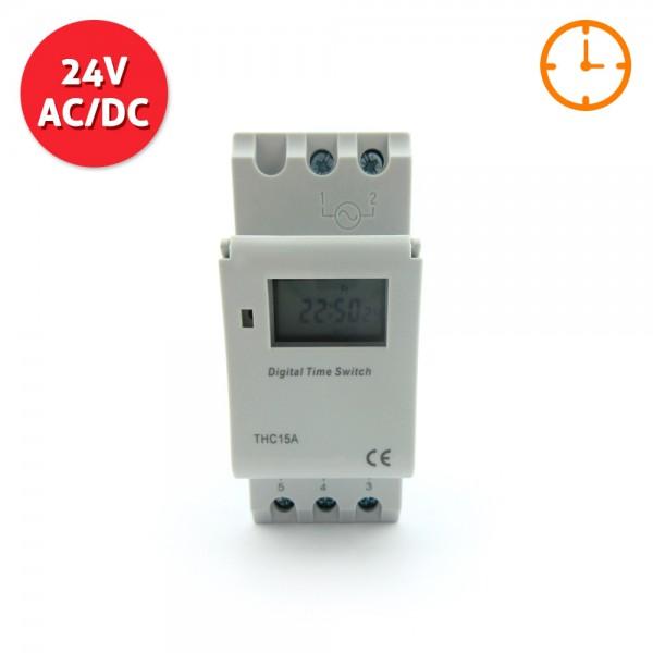 Programador horario digital 24v ac dc algsistemas for Programador electrico digital