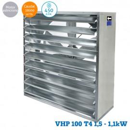 Ventilador helicoidal VHP 100 T4 1,5CV (1,1KW)