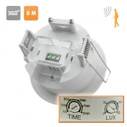 Detector de movimiento de empotrar 360º hasta 8 metros
