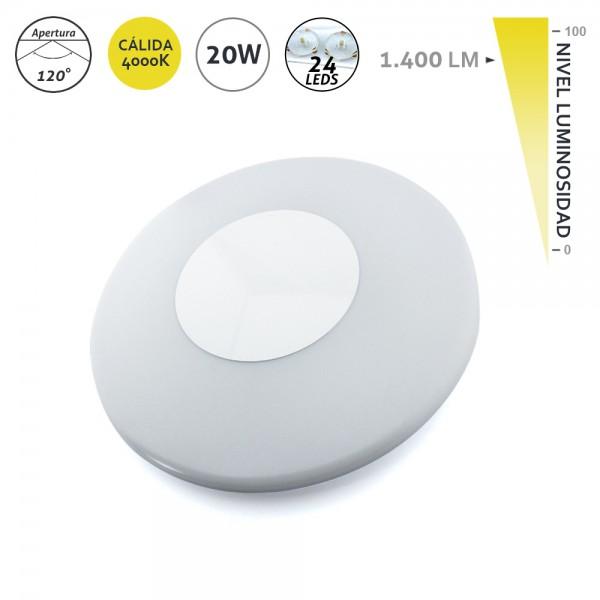 Aplique de superficie LED 20W 34,4CM 4.000K EDM