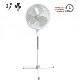 Ventilador de pie  Ø40cm blanco 55W